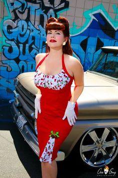 Pin up Dresses Archives - Rockabilly Clothing Store Rockabilly Mode, Rockabilly Outfits, Rockabilly Fashion, Retro Fashion, Vintage Fashion, Pin Up Girls, Vintage Dresses, Vintage Outfits, Costumes