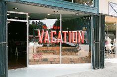 Vacation Window Sign