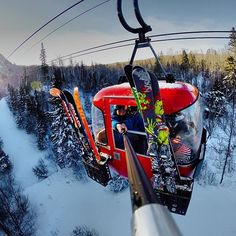 Cool skis and a cool selfie shot!