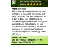 Allison is very knowledgeable with the latest technology of connecting my business with...