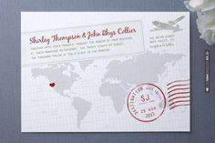 Cool! - travel theme invite   CHECK OUT MORE IDEAS AT WEDDINGPINS.NET   #weddings #travel #travelthemes #weddingplanning #coolideas #events #forweddings #weddingplaces #romance #beauty #planners #weddingdestinations #travelthemedweddings #romanticplaces #eventplanners #weddingdress #weddingcake #brides #grooms #weddinginvitations