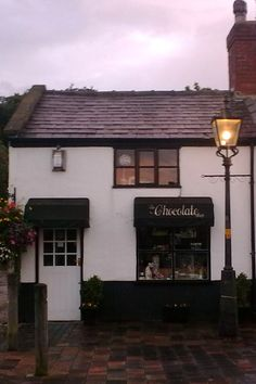 The Chocolate Shop at Dusk, Churchtown, Southport.