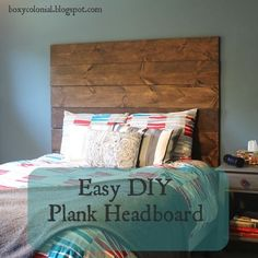 Easy and inexpensive DIY plank headboard