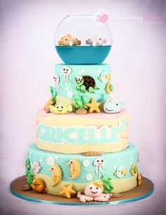 I made this cake for my little daughter who turned 2. She loves sea creatures and was so happy with her cake. A mom who sees their daughter happy is priceless.