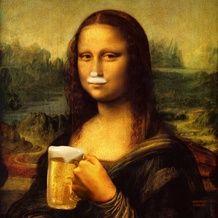 Me v'la rendu au Festival des Bières du Monde . After the Wine Festival . Me v'la at the Beer Festival of the World . A chance that I'm aqualic . Aesthetic Iphone Wallpaper, Aesthetic Wallpapers, Le Sourire De Mona Lisa, Classical Art Memes, Mona Lisa Parody, Mona Lisa Smile, Funny Art, Surreal Art, Art Plastique