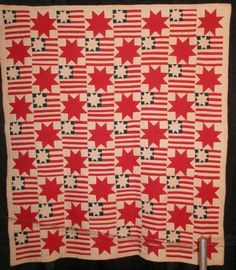 wonderful antique patriotic quilt from the 1940's