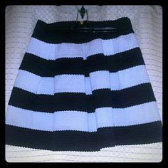 Ginger G black and white skirt size large Like new Ginger G skirt Ginger G Skirts Mini