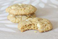 délicieux cookies chocolat blanc.