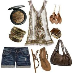 ☮ American Hippie Bohemian Boho Style ~ Summer Festival Outfit