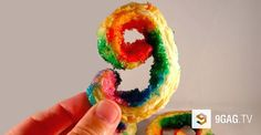 Rainbow and Nutella Cookies