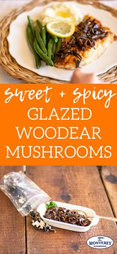 Have you ever had a Woodear mushroom? These mushrooms have a distinct crunchy, yet melt-in-your-mouth texture. Make these sweet and spicy glazed mushrooms for a flavorful side dish that will wow your dinner guests! Mushroom Side Dishes, Rice Side Dishes, Healthy Side Dishes, Vegetable Side Dishes, Vegetarian Mushroom Recipes, Best Mushroom Recipe, Brunch Recipes, Healthy Dinner Recipes, Mushroom Appetizers