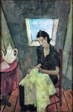 Felice Casorati - Cucitrice nella soffitta 1931