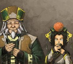 Toph and Iroh, tea time.  Toph is my other favorite.