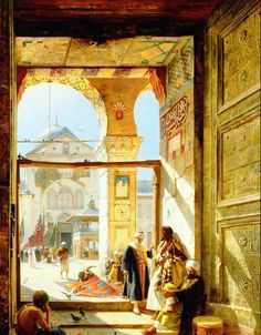 The Gate of the great Umayyad Mosque - Gustave Bauernfeind