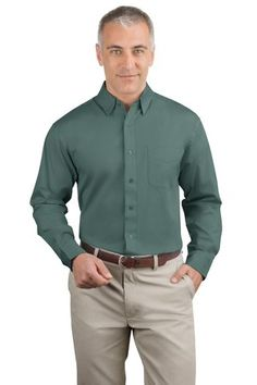 This classic workplace favorite of Port Authority Signature S620 Stretch Poplin Shirt has a crisp, clean look with a touch of spandex for flexibility.