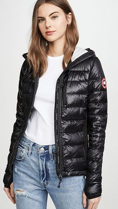 Canada Goose Hybridge Lite Hoodie | SHOPBOP Puffer Jackets, Winter Jackets, Women's Puffer, French Girls, Fall Trends, Canada Goose, Cool Girl, Fashion Online, Hoodies