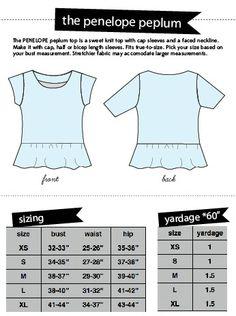 women's PENELOPE knit PEPLUM top PDF pattern | see kate sew
