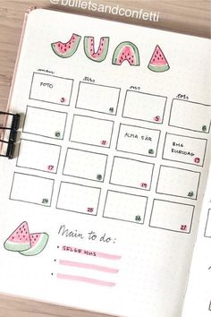 The ultimate collection of bullet journal WATERMELON themed spreads for inspiration! #bujo #bujotheme #bulletjournal #bujoideas Bullet Journal Log, Bullet Journal Spreads, Bullet Journal For Beginners, Bullet Journal Quotes, Bullet Journal Aesthetic, Bullet Journal Writing, Bullet Journal Themes, Bullet Journal Layout, Bullet Journal Inspiration