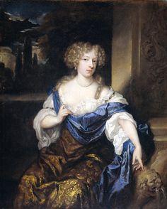 Caspar Netscher - Helena Catharina de Witte (1661-95). Echtgenote van Iman Mogge, heer van Haamstede