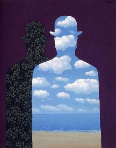 Painting by René Magritte, 1962, High Society (Le beau monde). #Surrealism