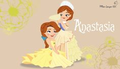 Anastasia, little princess of Russia. No-Disney Young Princess ~ Anastasia Disney Pixar, Arte Disney, Disney Fan Art, Disney Animation, Disney And Dreamworks, Disney Cartoons, Animation Film, Disney Magic, Disney Movies