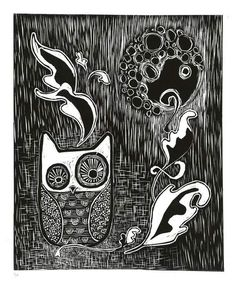 great lino print examples & ideas