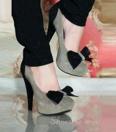 #Elegant #Stiletto Platform #Heels with #Bowtie
