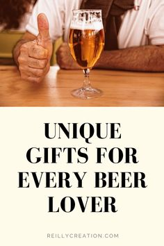 Looking for a great gift ideas for a beer lover in your life? Check out our list of unique beer gifts. It's an eclectic list that has something for everyone. Handmade Gifts For Men, Unique Gifts For Men, Cool Gifts, Gifts For Beer Lovers, Beer Gifts, Gift For Lover, Gifts For My Boyfriend, Gifts For Husband, Mens Bday Gifts