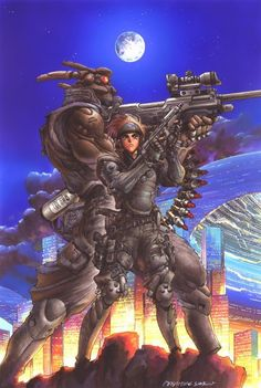 Reference for Infinity PanO force - Masamune Shirow, Appleseed, Briareos Hecatonchires, Deunan Knute