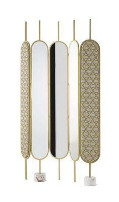 Paravent design original / en tissu / en bois / avec miroir   Gallotti&Radice