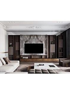 Get to Know the Incredible Halpern Design Tv Cabinet Design, Tv Wall Design, Design Table, Apartment Interior, Interior Design Living Room, Home Room Design, House Design, Living Room Tv Unit Designs, Muebles Living