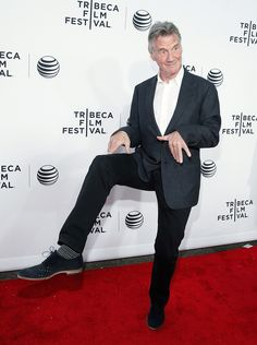 Heres What The Monty Python Reunion Looked Like At The Tribeca Film Festival Michael Palin, Simon Pegg, Tribeca Film Festival, Monty Python, Famous Men, Nyc, Actors, Celebrities, People