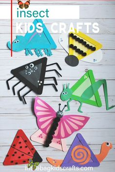 INSECT KIDS CRAFTS INSECT CRAFT FOR KIDS starts with some popsicle sticks and takes just a a few other supplies from in the bag.  Part of a larger insect craft collection!  This easy DIY kids' crafts can be found at inthebagkidscrafts.com, where every project is made from the same master list of craft supplies that fit into one bag.  This unique approach to crafting with your kids makes it actually do-able for real life, minimizing the stress, prep time and mess usually involved with kids'… Diy Crafts For Kids Easy, Animal Crafts For Kids, Easy Arts And Crafts, Summer Crafts For Kids, Craft Projects For Kids, Craft Activities For Kids, Toddler Crafts, Paper Crafts For Kids, Preschool Crafts