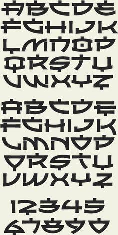 letterhead fonts sho asian alphabets