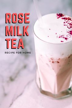 Ever wondered what it's like to have floral notes of flavor in your milk tea? Well with our full recipe guide on how to make rose milk tea, you'll find out today! Rose Milk Tea, Fake Rose Petals, Milk Tea Recipes, How To Make Rose, Oolong Tea, Brewing Tea, Soy Milk, Bubble Tea, New Flavour