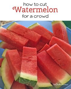 Check out this brilliant hack to cut watermelon for a crowd and serve it with no mess!