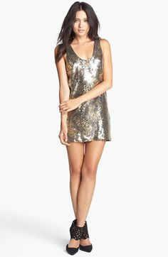 One Rad Girl 'Jenna' Sequin Tank Shift Dress available at #Nordstrom. I'D WEAR WITH A PAIR OF JEANS