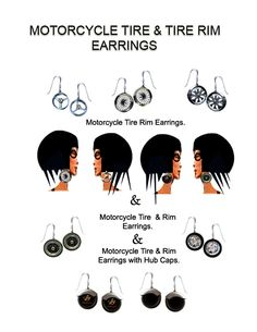 Motorcycle themed earrings that I designed.