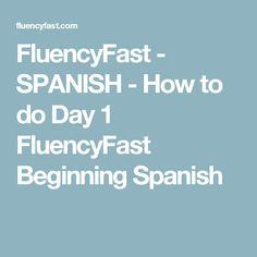 FluencyFast - SPANISH - How to do Day 1 FluencyFast Beginning Spanish