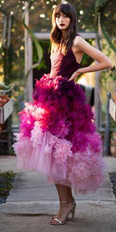 Wedding Trend Allert: 12 Purple Wedding Dresses ❤ purple wedding dresses floral 3d tea length marchesa ❤ #weddingdresses #weddingoutfit #bridaloutfit #weddinggown Bridal Outfits, Bridal Gowns, Wedding Gowns, Colored Wedding Dresses, Purple Wedding, Wedding Trends, Dress Making, Beautiful Dresses, Tulle