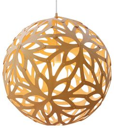 David Trubridge Design Floral 600 Bamboo Suspension Lamp modern ceiling lighting
