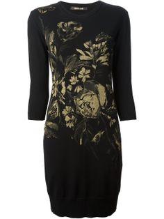 Roberto Cavalli Floral Print Sweater Dress - Paola - Farfetch.com