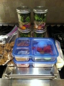 sunday night prep for eating clean all week