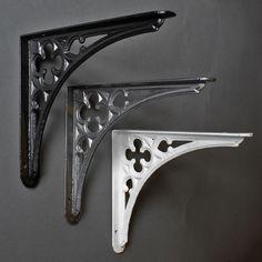 Gothic Shelf Bracket - http://www.yesterhome.com/collections/medium-brackets/products/cast-iron-bracket-gothic-medium