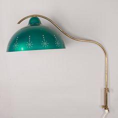 Valinte wall lamp (painted metal, brass).