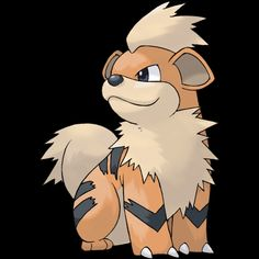 "058-Growlithe, puppy Pokemon. Type-fire. Ability- intimidate or flash fire, justified, hidden ability. Height-2'04"". Weight-41.9 lbs."