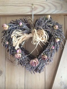 I love this lavender heart, I put lavender oil on it to keep the scent. I bought the heart but added the roses which were from my aunt's garden