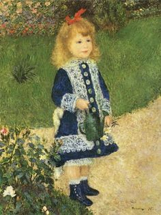 """Auguste #Renoir """"Girl with Watering Can"""" / $144 - $359 incl.20% VAT and Shipping / Click http://mondialart.co.uk/product/girl-with-watering-can/ #art #painting #mondialart #replica"""