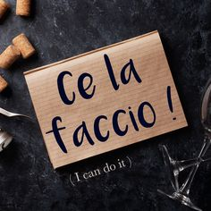 Frase della settimana / Phrase of the week: Ce la faccio! (I can do it!) Find out more about this phrase and it's pronunciation by visiting the full article! Italian Grammar, Italian Vocabulary, Italian Phrases, Italian Words, Italian Quotes, Italian Language, Italian Lessons, French Lessons, Spanish Lessons