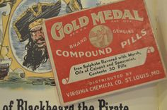New Old Stock - Gold Medal Compound Pills - 1942 - Distributed by Virginia Chemical Co. St. Louis, MO by AshleysEclecticAttic on Etsy